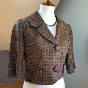 Vintage 1940's Tweed Blouse